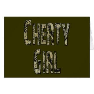 Cherty Girl Card