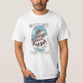 Cherub and Birds on Cloud Vintage Easter Shirt