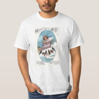Cherub and Birds on Cloud Vintage Easter T-Shirt