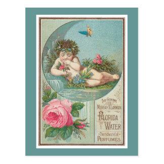 Cherub and Roses Cologne Label Postcard