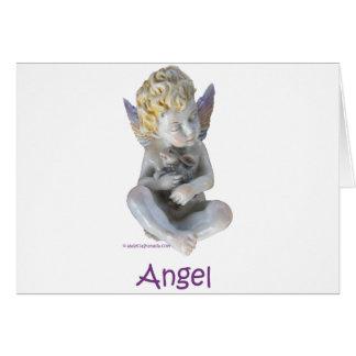 Cherub Angel and Bunny Card