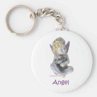Cherub Angel and Bunny Keychain