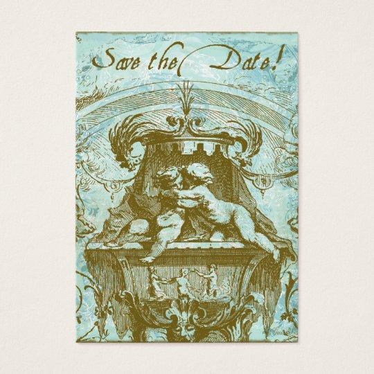 Cherub Angel Baby Vintage Save the Date Cards