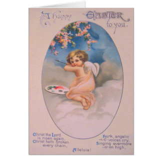 Cherub Angel Cherry Tree Painting Pallet Christian Card