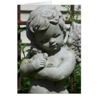 cherub angel closeup notecard