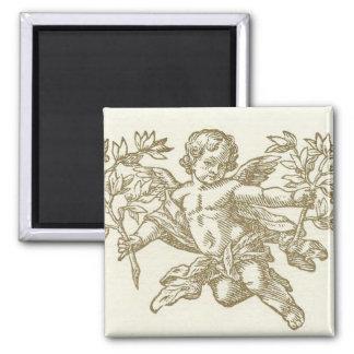 Cherub Angel <cream> Square Magnet