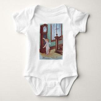 Cherub Angel Cupid Grandfather Clock Baby Bodysuit