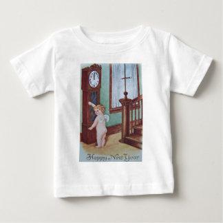 Cherub Angel Cupid Grandfather Clock Baby T-Shirt