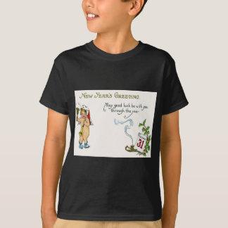 Cherub Angel Holly Calendar Bell Horn T-Shirt