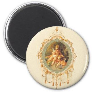 Cherub Angel Vintage French Design 2 Inch Round Magnet