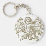 Cherub Angel (white) Keychain