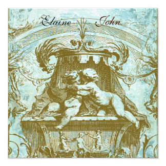 Cherub Angels French Architecture  Invitation