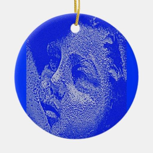 CHERUB BY LIZ LOZ Double-Sided CERAMIC ROUND CHRISTMAS ORNAMENT