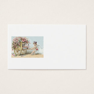 Candy rose business cards templates zazzle cherub cupid mail rose candy cart business card colourmoves