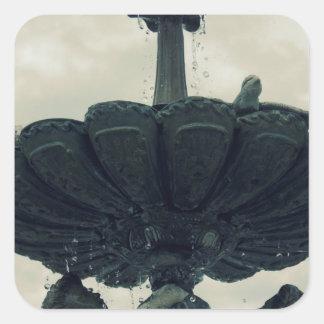 Cherub Fountain Square Sticker