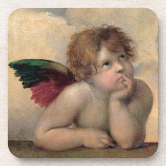 Cherub from Sistine Madonna by Raphael Drink Coaster