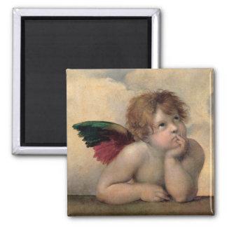 Cherub from Sistine Madonna by Raphael Magnet