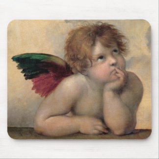 Cherub from Sistine Madonna by Raphael Mouse Pad
