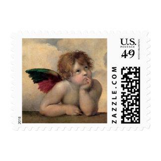 Cherub from Sistine Madonna by Raphael Postage