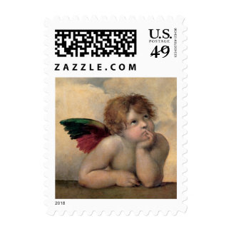 Cherub from Sistine Madonna by Raphael Stamp