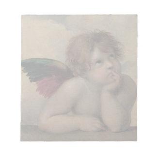Cherub from Sistine Madonna by Raphael Scratch Pad