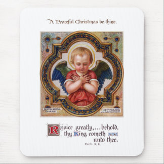 Cherub in Ornate Gilded Frame Mouse Pad
