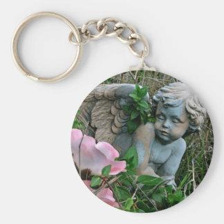 Cherub in the Grass Basic Round Button Keychain
