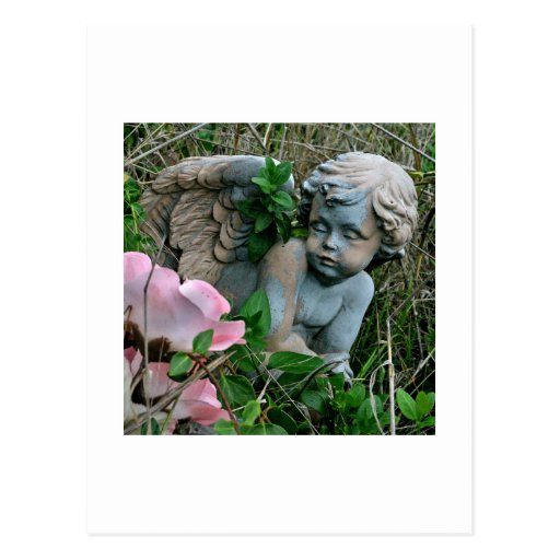 Cherub in the Grass Postcard