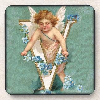 Cherub Letter V Coaster