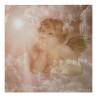 Cherub Looking Up Poster
