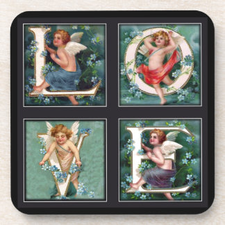 Cherub LOVE Letters Drink Coaster