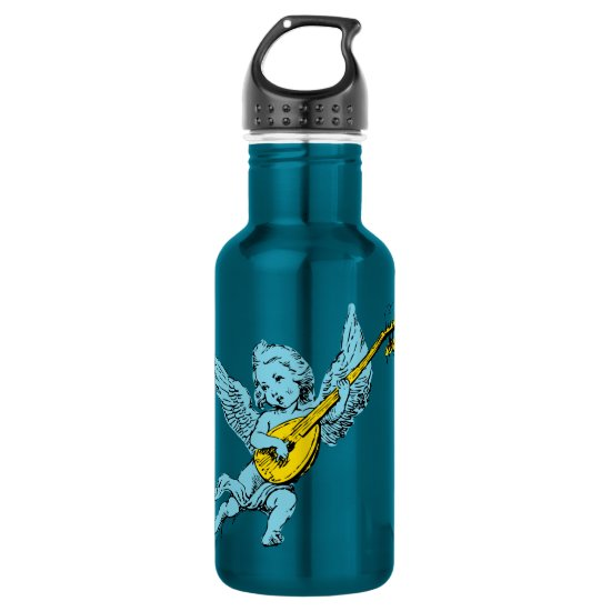 Cherub Playing Guitar Stainless Steel Water Bottle