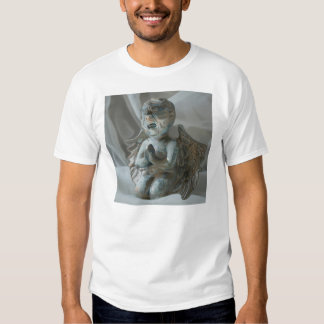 cherub statue praying desperately t-shirt