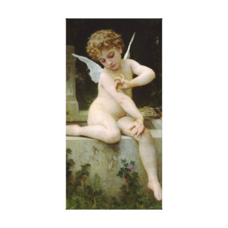 Cherub with A Butterfly Canvas Print
