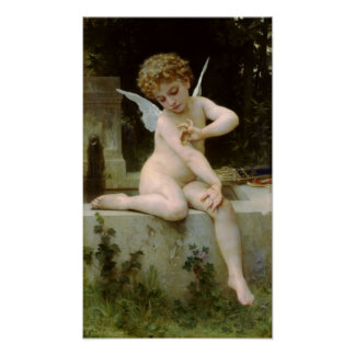 Cherub with A Butterfly Poster