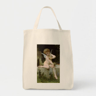 Cherub with A Butterfly Tote Bag