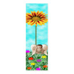 cherub with flowers business card template