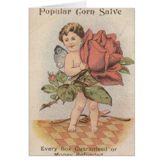 Cherub with rose card
