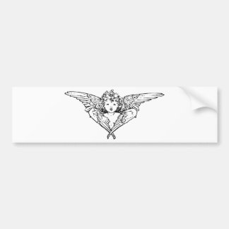 Cherubim angel painting bumper sticker
