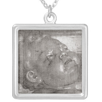 Cherubim Crying, 1521 Silver Plated Necklace