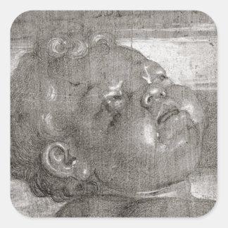 Cherubim Crying, 1521 Square Sticker