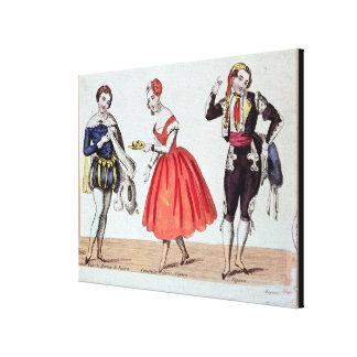 Cherubino, Fanchette y Figaro Impresión En Tela