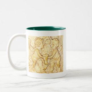 Cherubs ℒ ☺♥ε ๑ ゚CupMugging ◆* Two-Tone Coffee Mug