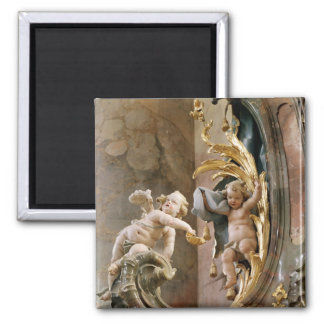 Cherubs, 1737-66 2 inch square magnet