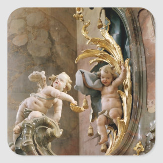 Cherubs, 1737-66 square sticker