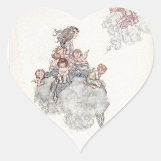 Cherubs and Angel Fairies Andersen's Fairy Tales Heart Sticker