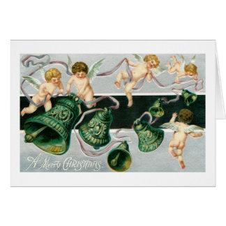 Cherubs and bells card