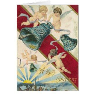 cherubs and bells christmas card