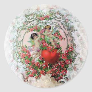 Cherubs and Lace Valentine's Day Stickers