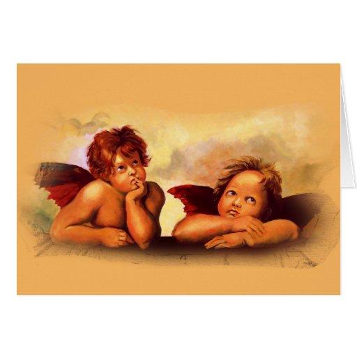 Cherubs, Angels, After Raphael: Original Artwork Card